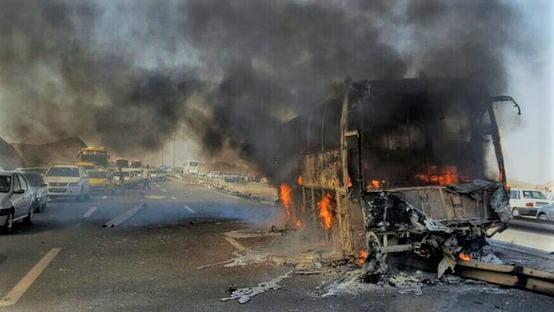برخورد تانکر سوخت و اتوبوس مسافری در سنندجبرخورد تانکر سوخت و اتوبوس مسافری در سنندج