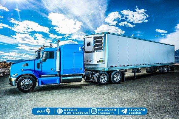 روش آسان برای حمل بار با کامیون یخچالی