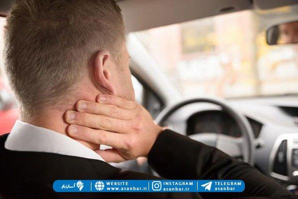ضرر رانندگی برای دیسک گردن